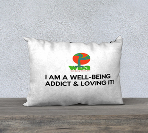 "PILLOW DECOR, SPIRITUAL INSPIRATIONAL AFFIRMATION, WELL BEING, ""I AM A. . ."" - Well Being Addict.Com"