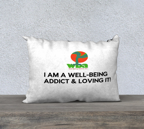 "PILLOW DECOR, SPIRITUAL INSPIRATIONAL AFFIRMATION, WELL BEING, ""I AM A. . ."""