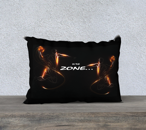 "PILLOW DECOR, SPORT BASKETBALL, AFFIRMATION, ""IN THE ZONE"""