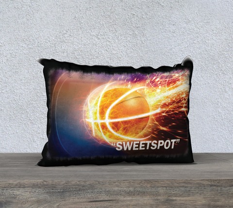 "PILLOW DECOR, BASKETBALL, AFFIRMATIONS, WELL BEING, ""SWEETSPOT"" IN THE ZONE"