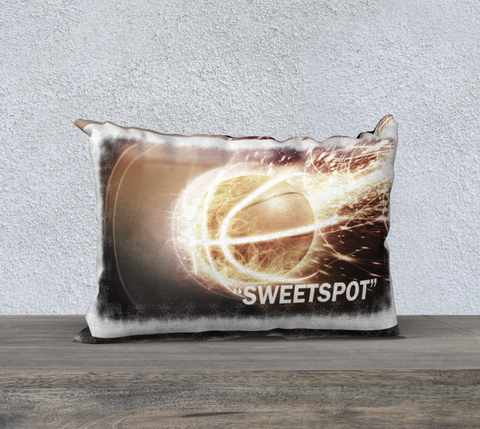 "PILLOW DECOR, BASKETBALL, SPORT AFFIRMATION, ""SWEETSPOT"" = ""IN THE ZONE"""
