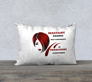 "Inspirational Affirmation Pillow - Cosmetologist ""Mastery Exudes. . ."" - Well Being Addict.Com"