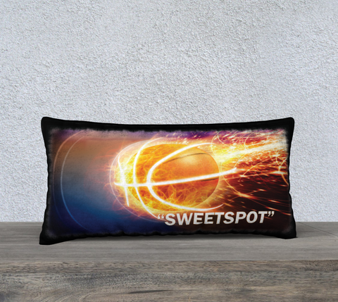"PILLOW DECOR, BASKETBALL, AFFIRMATION, ""SWEETSPOT"" = ""IN THE ZONE"""