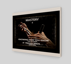 "Spiritual Inspirational Affirmation Poster -Cosmetologist "" Mastery Exudes . . ""1 - Well Being Addict.Com"