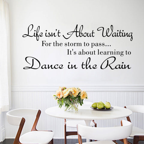 Life is not About Waiting Inspirational Quotes Wall Stickers - Well Being Addict.Com