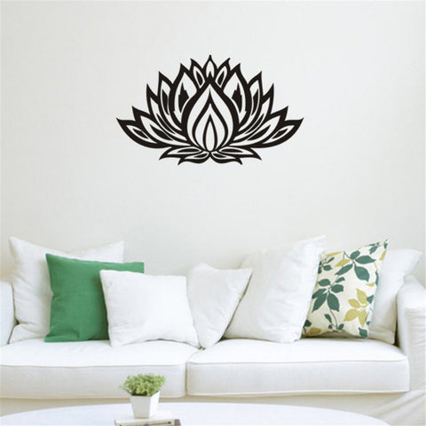Art Wall Decal Vinyl Lotus Yoga sticker- home decoration bedroom Flower Mural - Well Being Addict.Com