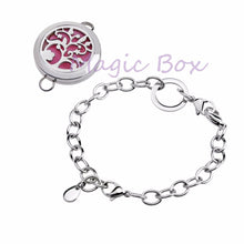 Load image into Gallery viewer, New arrival Round Silver tree of life 25mm Aromatherapy Essential Oils Diffuser Locket Bracelet Jewelry - Well Being Addict.Com