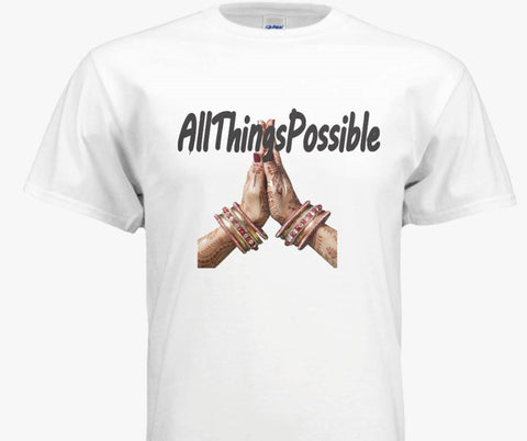 "Bella + Canvas Unisex Jersey Short-Sleeve T-Shirt-""AllThingsPossible"" - Well Being Addict.Com"