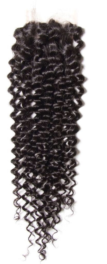 Brazilian Curly 4x4 Lace 3 Part Closure