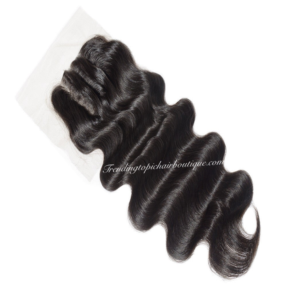 Mink Brazilian Body Wave   3 Part Closure