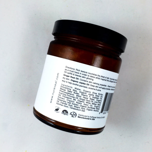 AYURVEDA GINGER + LIME  △ WHIPPED BODY BUTTER - NuReveal - 3