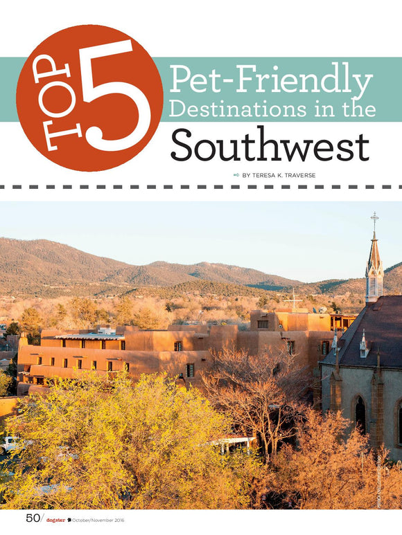 Santa Fe Listed as #1 Pet Friendly City in the Southwest