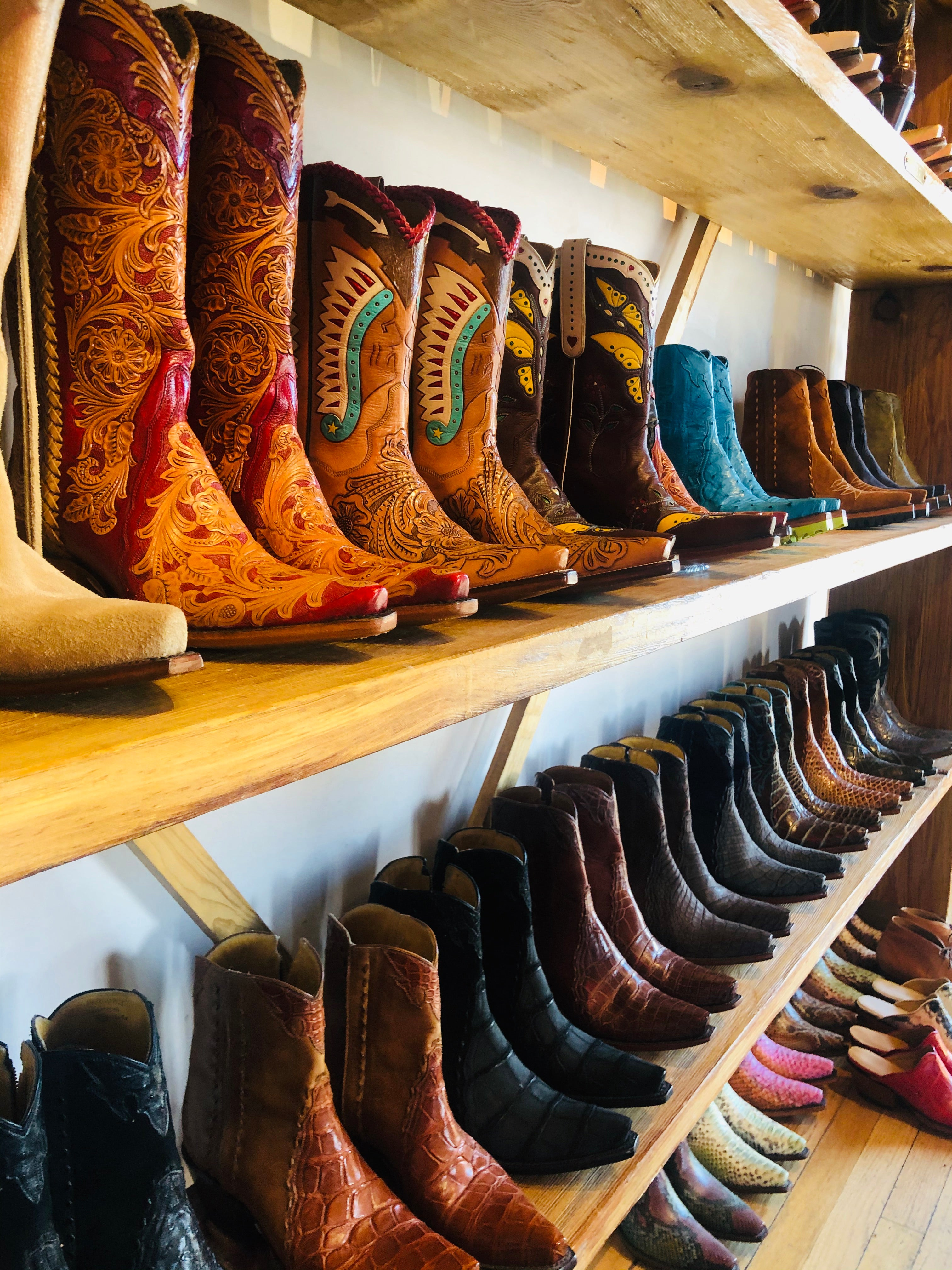 Handmade cowboy boots, made in the USA