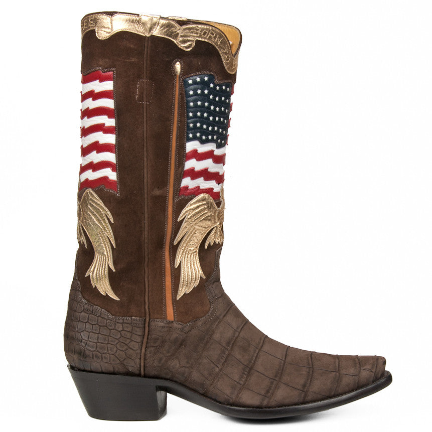 "Crocodile Stars and Stripes 13"" Brown - Back at the Ranch"