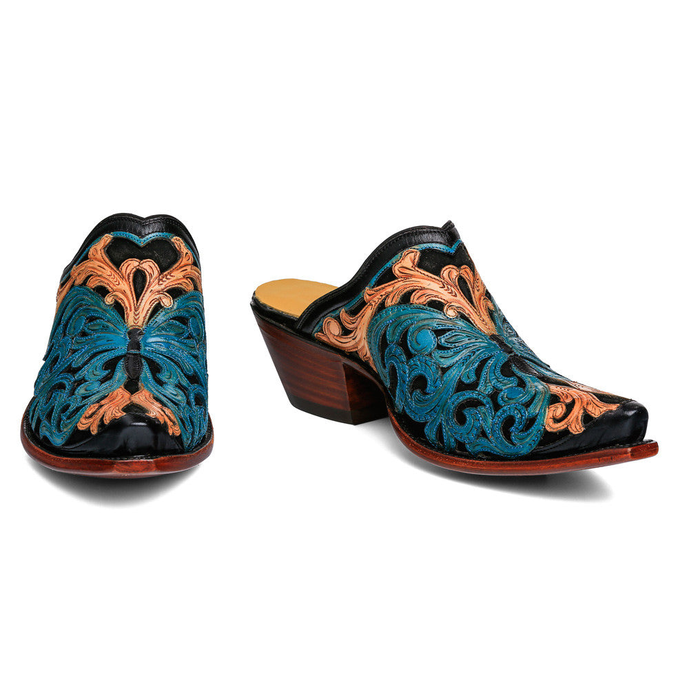 Butterfly Tooled Mule
