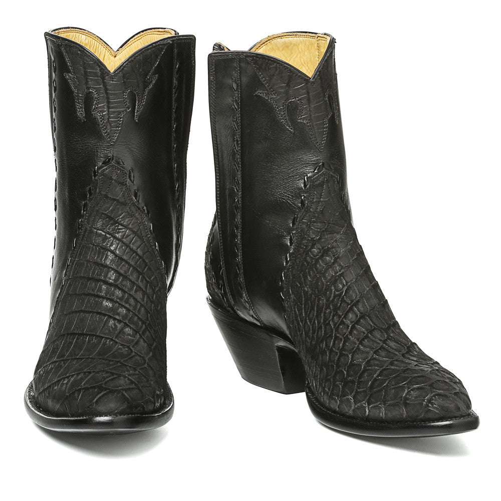 Crocodile Sueded Ankle Zipper Round Toe - Back at the Ranch