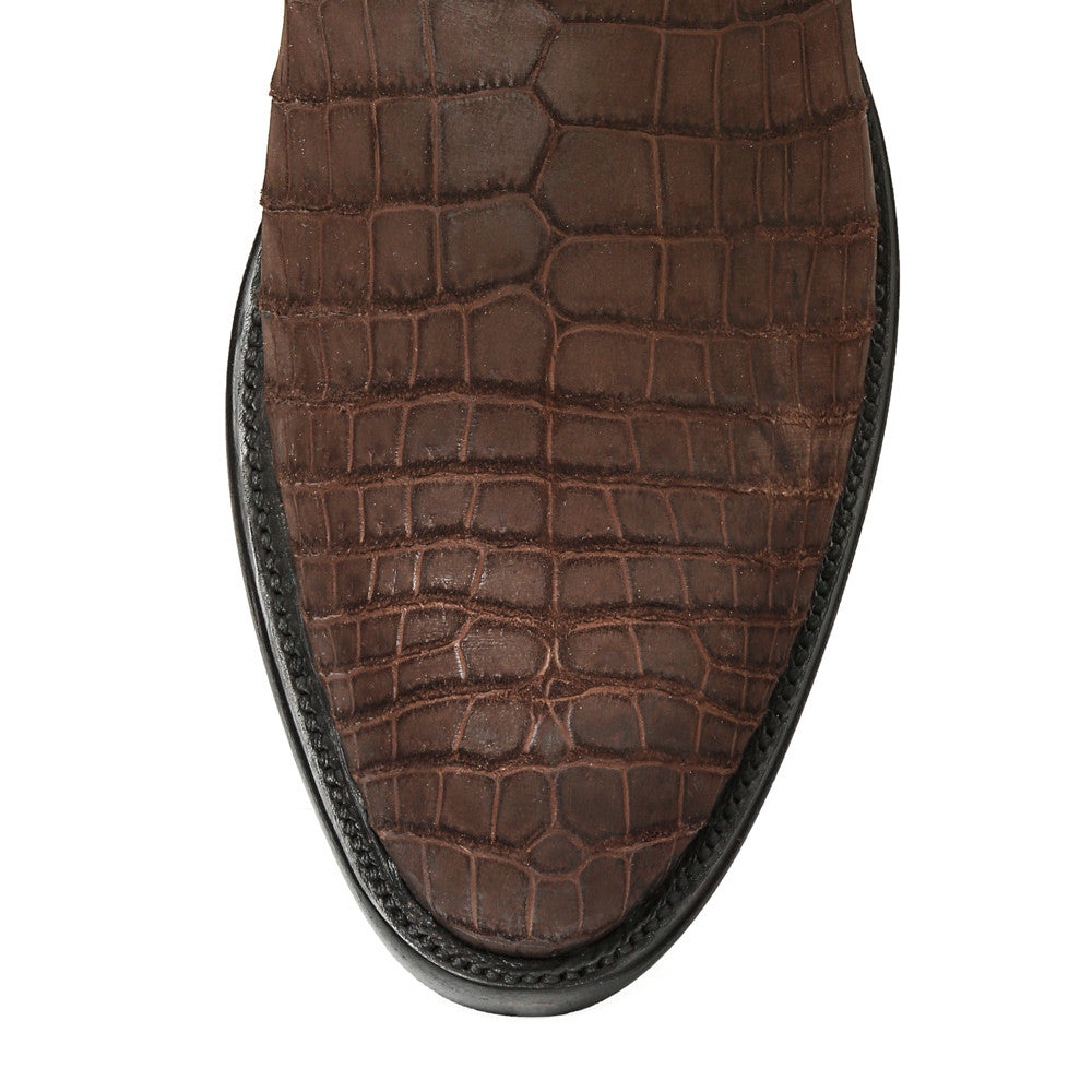 "Crocodile Sueded 12"" Round Toe - Back at the Ranch"