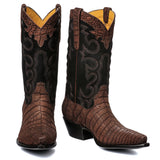"Crocodile Sueded with Nubuck 12"" Brown - Back at the Ranch"