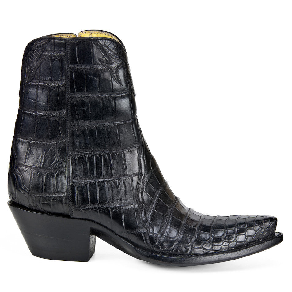 Full Crocodile Ankle Zipper - Black - Back at the Ranch
