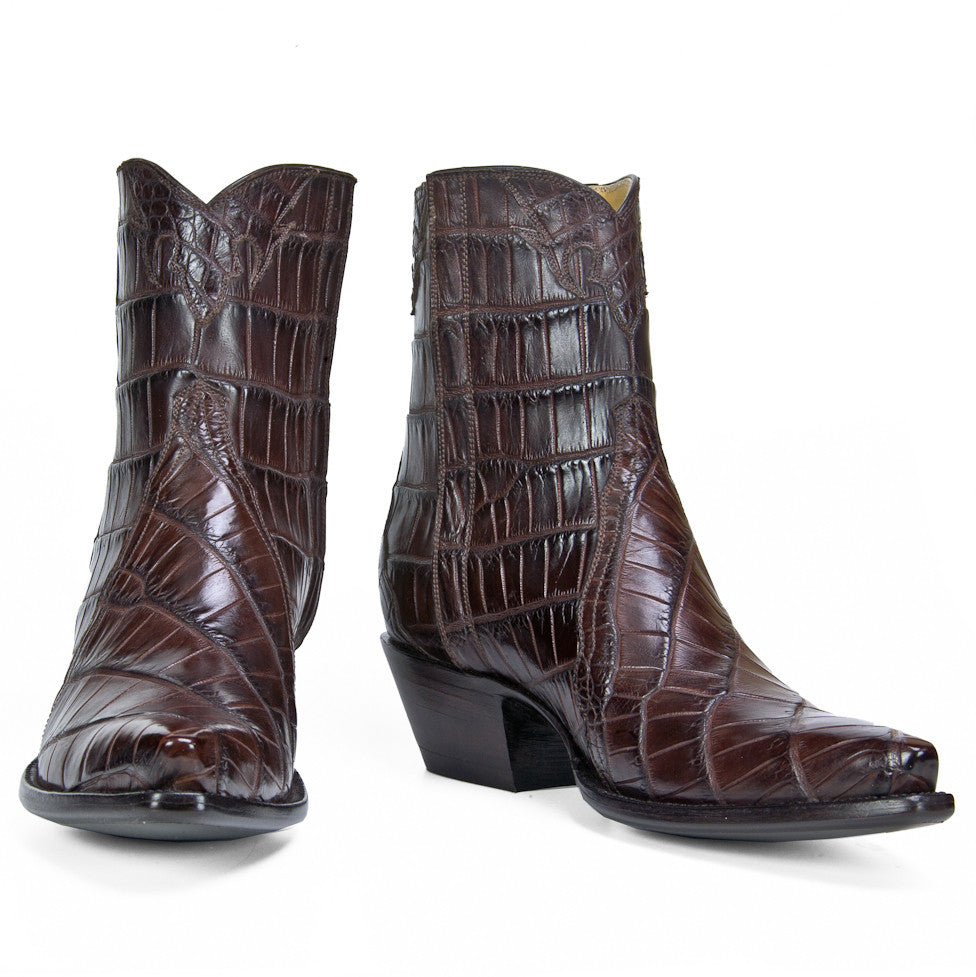 Full Crocodile Ankle Zipper - Brown - Back at the Ranch