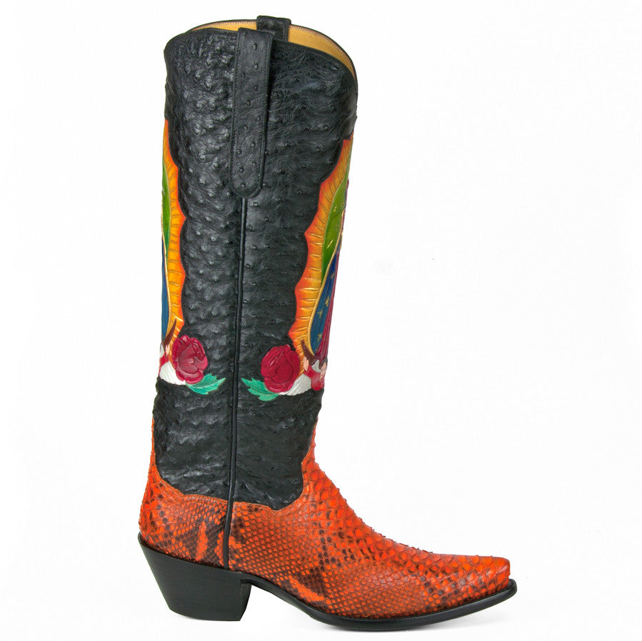 "Guadalupe Ostrich and Python 14"" - Back at the Ranch"