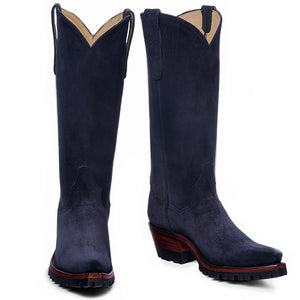 "Equestrian 14"" with Vibram - Navy - Back at the Ranch"