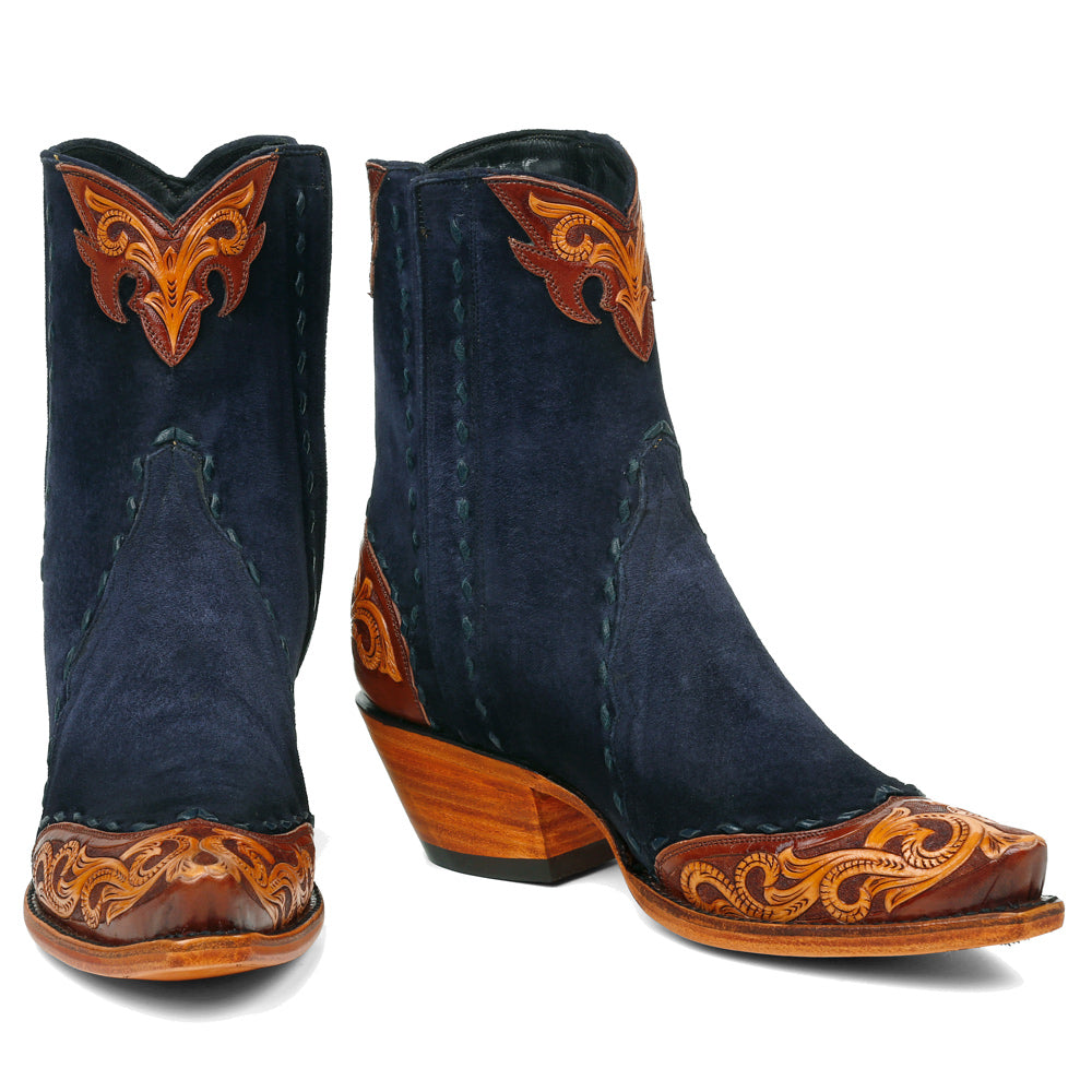 Saddle Ankle Zipper - Navy - Back at the Ranch