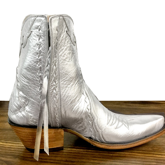 Sundance Ankle Zipper - Silver - Back at the Ranch