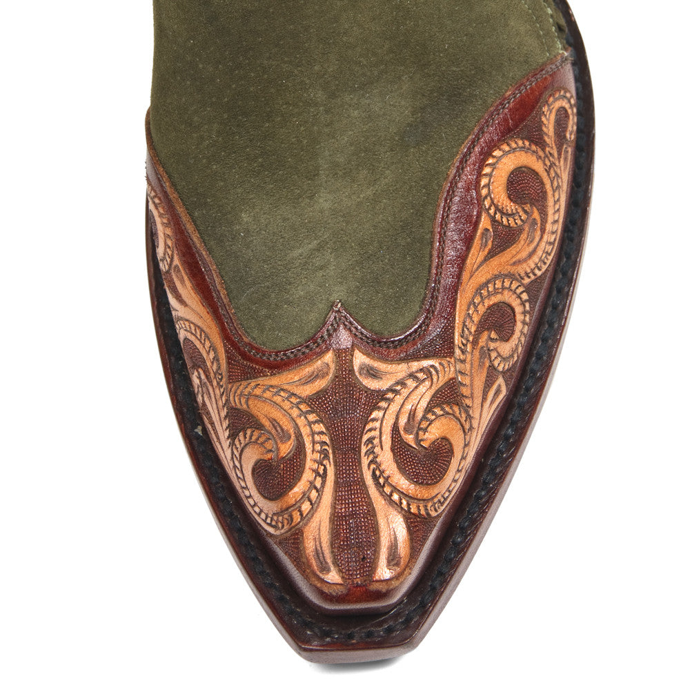 Saddle Ankle Zipper - Back at the Ranch