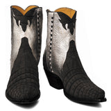 Annie Sueded Crocodile Zipper Boot - Back at the Ranch
