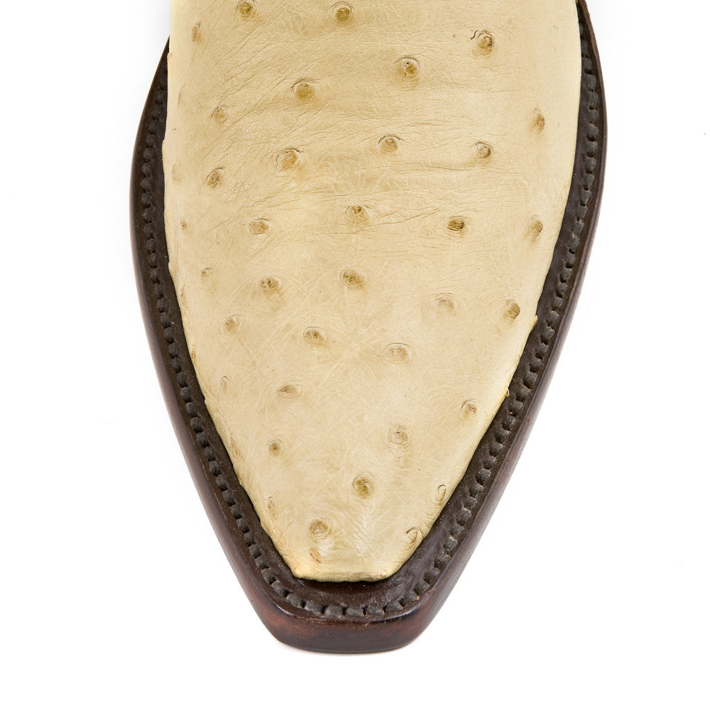 Ostrich Ankle Zipper - Winter White - Back at the Ranch