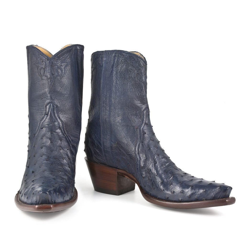 Ostrich Ankle Zipper - Navy - Back at the Ranch