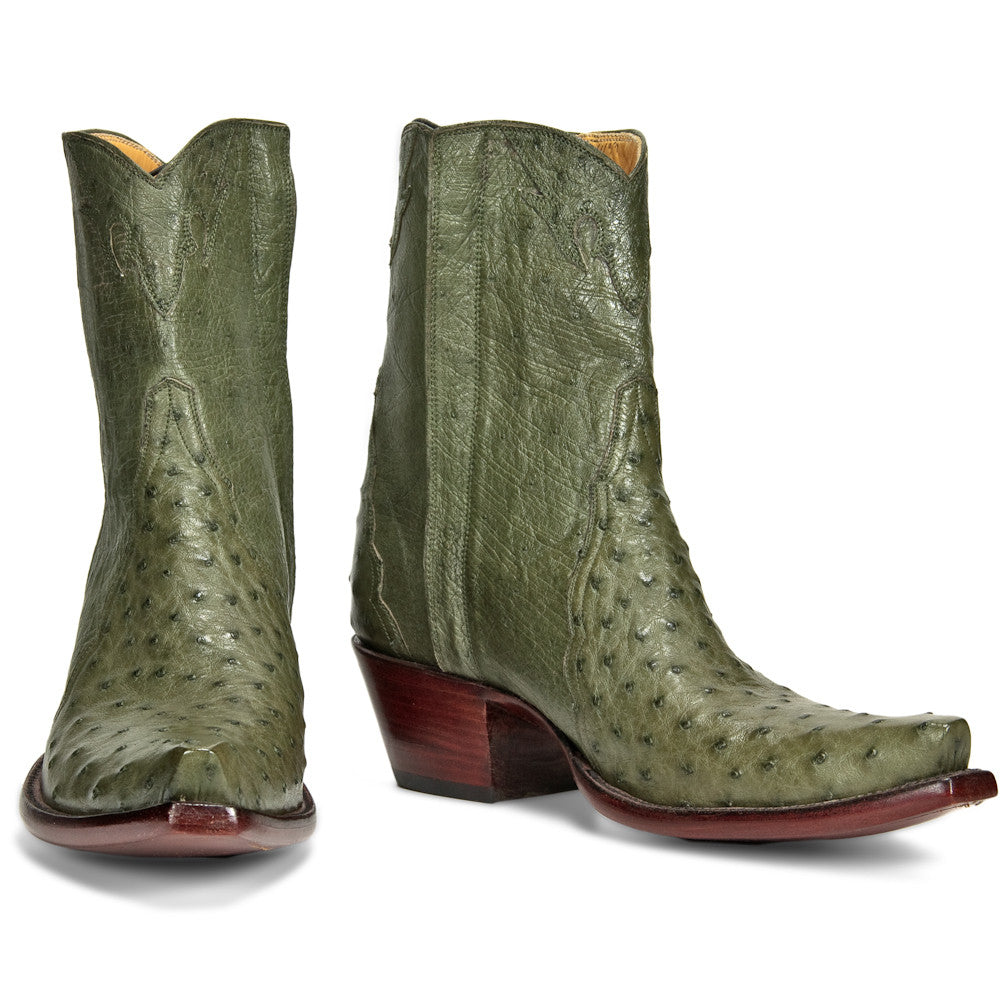 Ostrich Ankle Zipper - Olive - Back at the Ranch