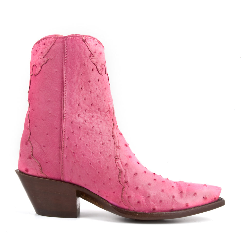 Ostrich Ankle Zipper - Pink - Back at the Ranch