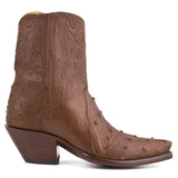 Ostrich Ankle Zipper - Brown - Back at the Ranch