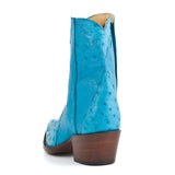 Ostrich Ankle Zipper - Crystal Blue - Back at the Ranch