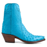Ostrich Ankle Zipper - Turquoise - Back at the Ranch