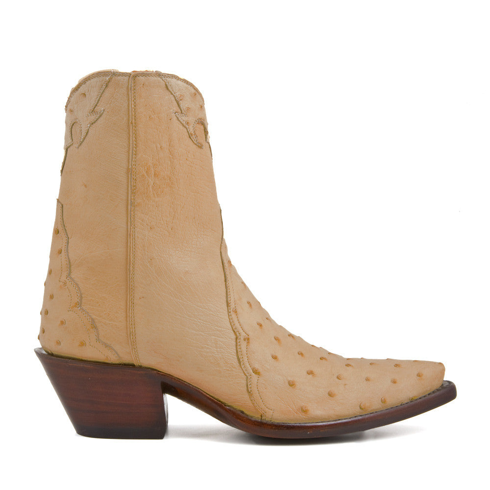 Ostrich Ankle Zipper - Antique Tan - Back at the Ranch