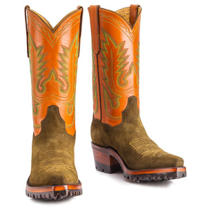 "El Rancho 12"" with Vibram -Cognac/Olive - Back at the Ranch"
