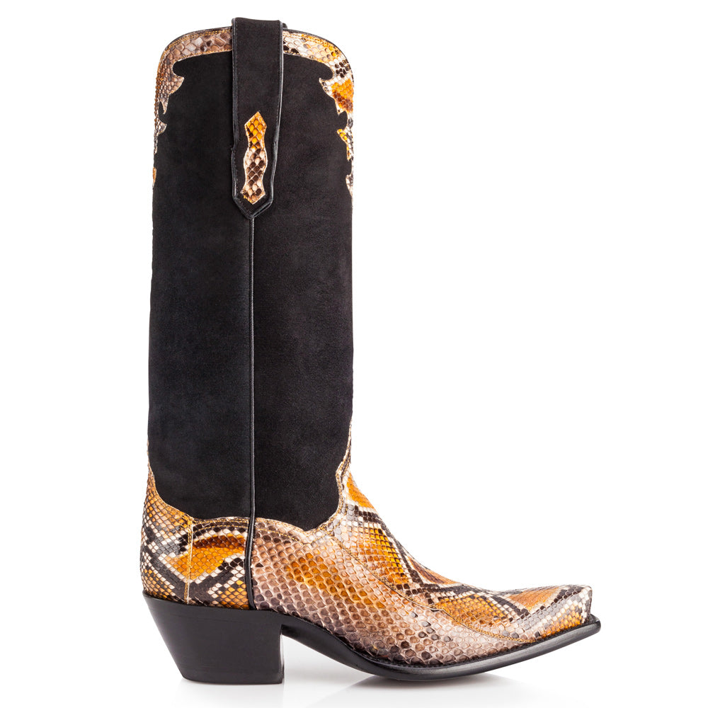 "Fancy Python 14"" - Orange and Black - Back at the Ranch"