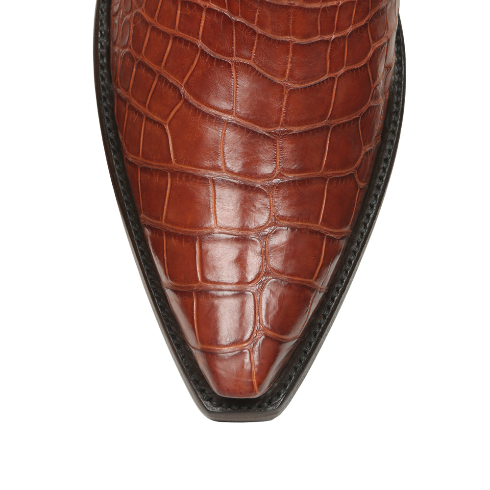 Crocodile with Calf Ankle Zipper - Back at the Ranch