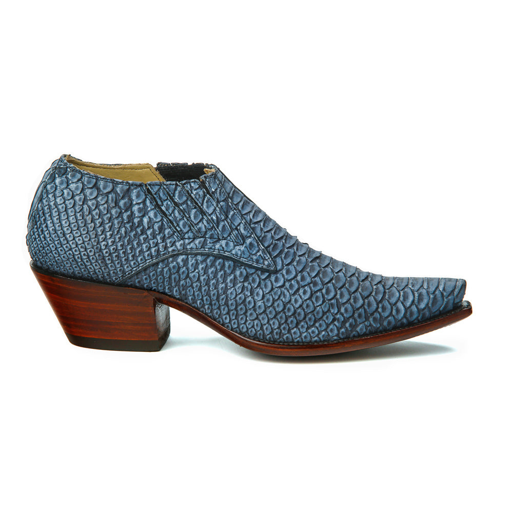 Sueded Python Shoe Boot - Indigo - Only Size 9 1/2 Womens - Back at the Ranch