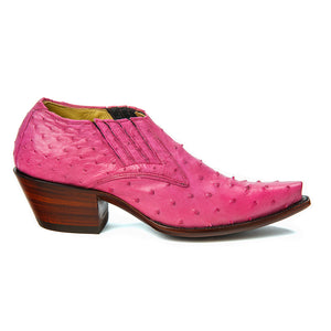 Ostrich Shoe Boot - Raspberry - Only Size 6 1/2 Womens - Back at the Ranch