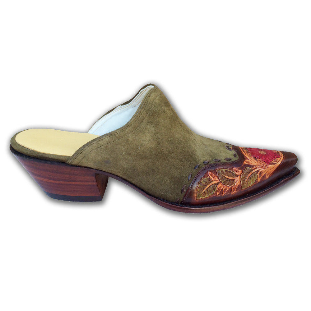 Saddle Floral Mule - Back at the Ranch