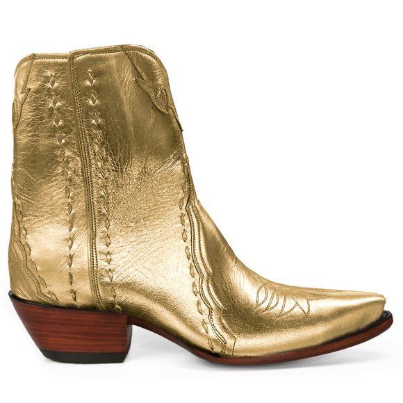 Sundance Ankle Zipper - Gold - Back at the Ranch