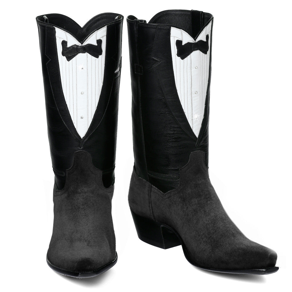 "Tuxedo Boot 12"" with Pigsuede Black"
