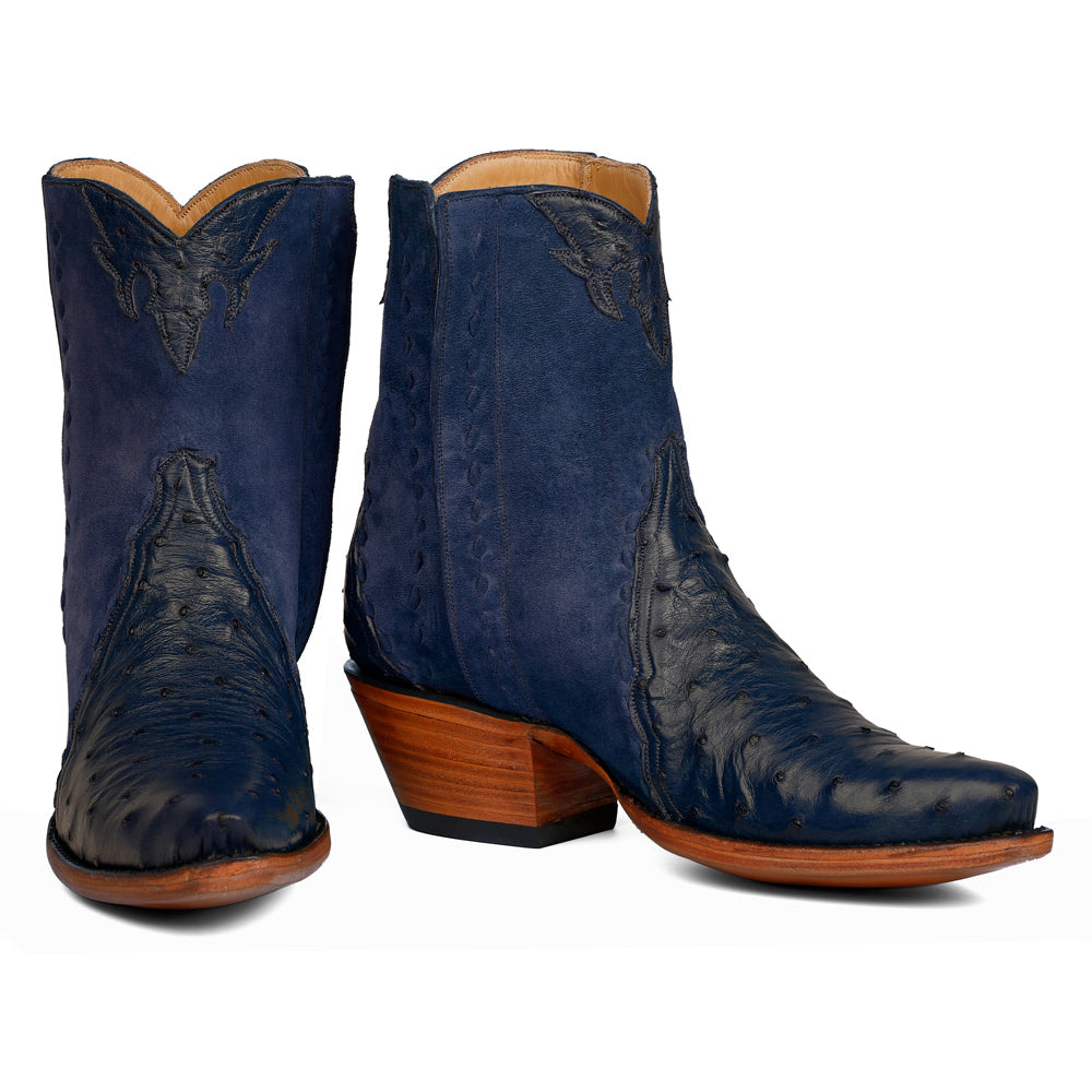 Ostrich with Pigsuede Ankle Zipper - Iris - Back at the Ranch