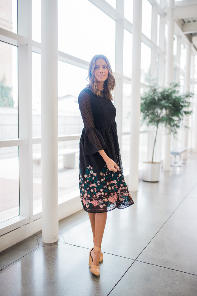 Emmaline Embroidered Dress