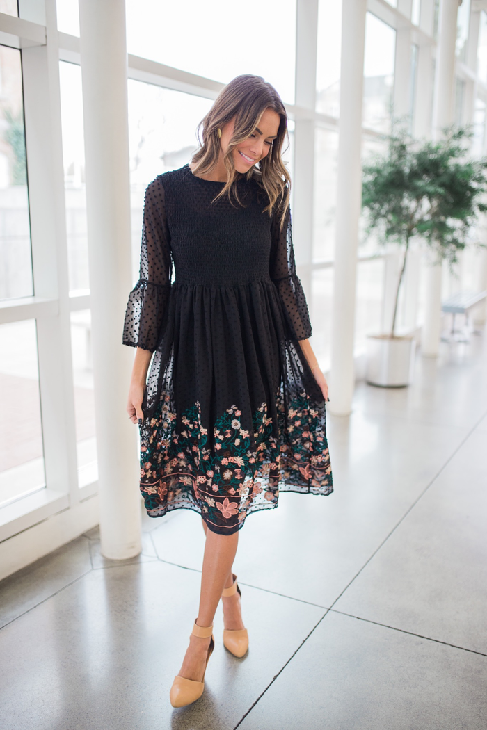 Emmaline Embroidered Dress RESTOCKED