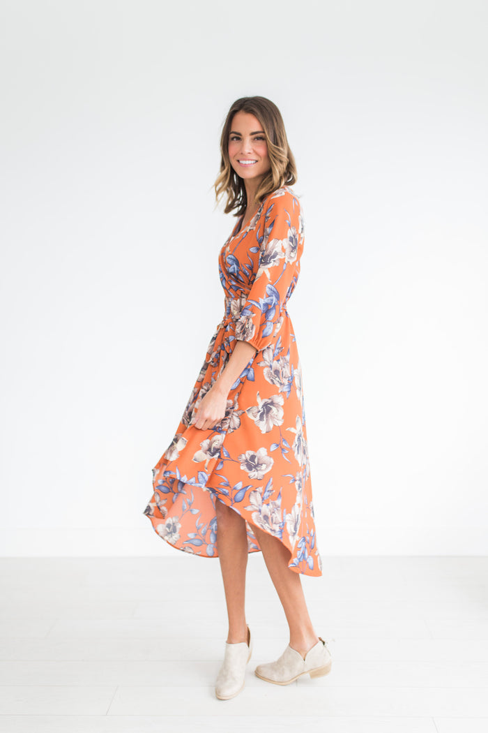 Rust Hi-Lo Dress